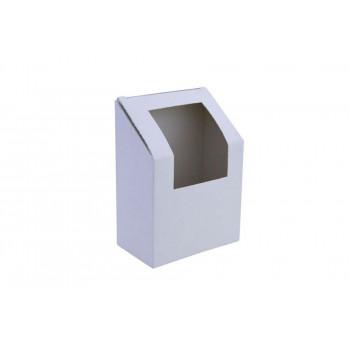 Wrapbox gesloten, met venster, 50 x 90 x 90 mm