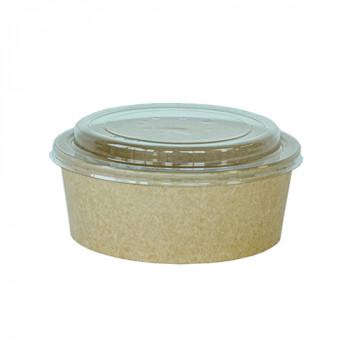 Food cup met deksel PET, enkelwandig 1300 ml