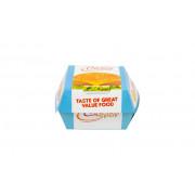 Foodbox  clamshell, e-lock, 90 x 90 x 70 mm
