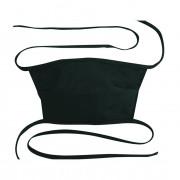 Mondkapje voor hergebruik, onbedrukt, 20 x 12 cm, wit of zwart