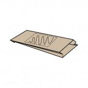 18 x (8) x 34 cm, kraft bruin, 1 zijde bedrukt